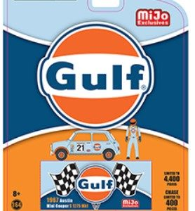 1967 austin mini cooper gulf oil greenlight