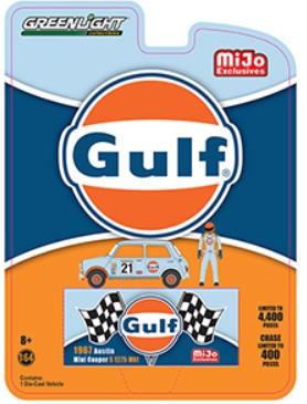 1967 austin mini cooper gulf oil greenlight