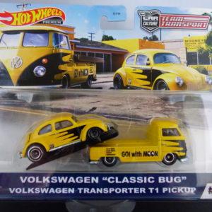 volkswagen classic bug volkswagen t1 transporter pick up hotwheels team transport
